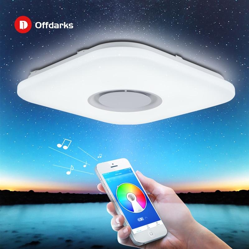 Modern Intelligent LED Ceiling Light, APP Control Bluetooth Speaker RGB Dimmable 36W/52W Living Room Bedroom Lighting 110V/220V