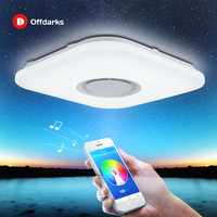 Luz de techo LED inteligente moderna, Altavoz Bluetooth con control por aplicación RGB regulable 36W/52W sala de estar dormitorio iluminación 110V/220V