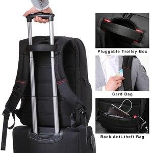 Image 5 - Kingsons KS3140 Men Women Laptop Backpack Business Leisure Travel School Bag Backpackwith USB Charge Multi function Waterproof