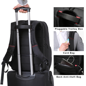 Image 5 - Kingsons KS3140 mężczyźni kobiety plecak na laptopa biznes wypoczynek plecak szkolny plecak z ładowaniem USB wielofunkcyjny wodoodporny