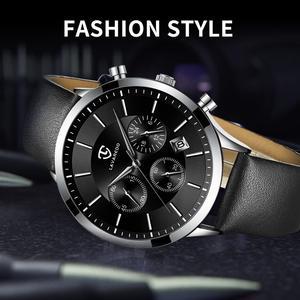 Image 5 - LAVAREDO Top Merk Luxe Heren Horloges Mannelijke Klokken Datum Klok Lederen Band Quartz Business Mannen Horloge Gift A7