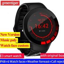 Đồng hồ thông minh E3 Nam Đồng hồ thông minh IP68 Đồng hồ thể thao Nhịp tim Huyết áp Theo dõi sức khỏe relogio inteligente Xem nhạc Chơi.