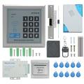 TZAD2000M-04 RFID система контроля допуска к двери комплект  домашняя охранная система с 150KA катодным замком бесконтактная дверная Входная клавиат...