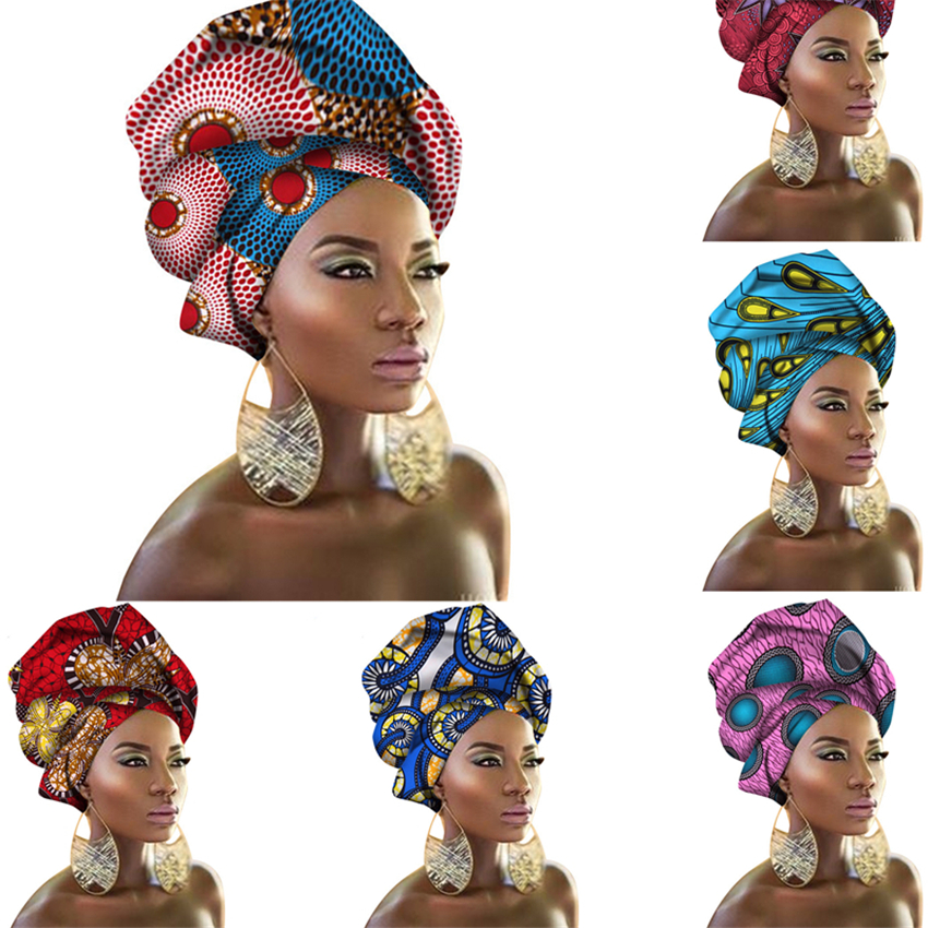 29Color African Dresses for Women Headband Printed Scarf Rich Bazin Nigerian Headtie Africa Clothing Dashiki Costumes 50*180CM
