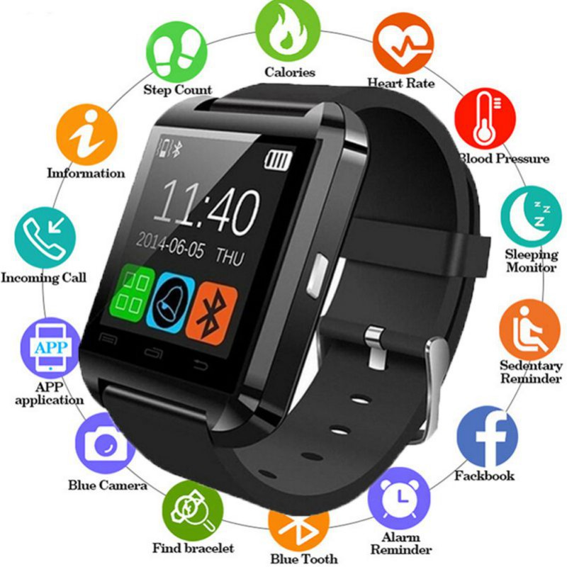 U8 Bluetooth Smart Watch For iPhone IOS Android Men Women Watches Wear Clock Wearable Device Smartwatch PK GT08 DZ09