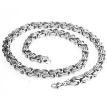 лучшая цена 8/12/15mm Silver Huge & Heavy Long Stainless Steel Byzantine Men Chain Necklace Or Bracelet 316L Stainless Steel Jewelry