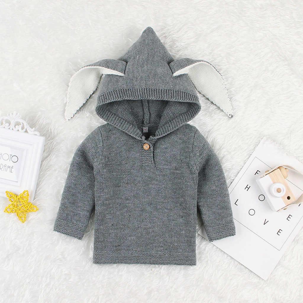 เด็กวัยหัดเดินเด็กทารกฤดูหนาวโครเชต์การ์ตูน Hooded WARM เสื้อกันหนาวถักฤดูใบไม้ร่วงฤดูหนาว WARM Cartoon เสื้อผ้าเด็กเสื้อกันหนาว