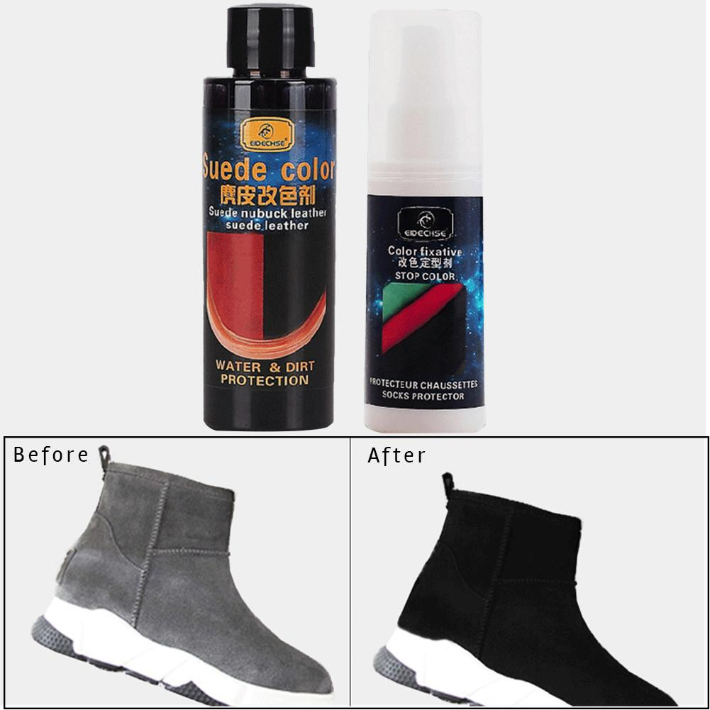 Leather Color Changing Agent Set Coloring Restore Agent For Nubuck Leather Suede Fabric Products Car Styling Accessories