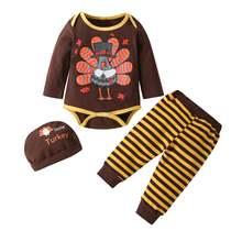 Комплект из 3 предметов для новорожденных боди младенцев Одежда