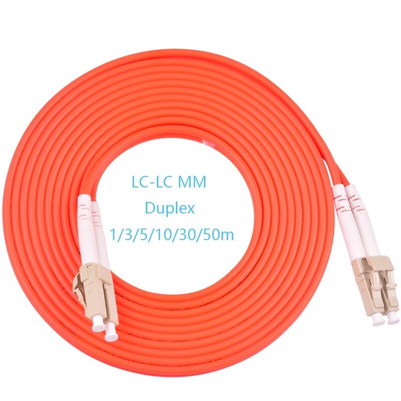 5 шт./лот LC/UPC-LC/UPC Волоконно-оптический патч-корд 1 м 2 м 3M 5 м дуплексный многомодовый кабель FC-FC оптического волокна Перемычка ММ DX Бесплатная ...