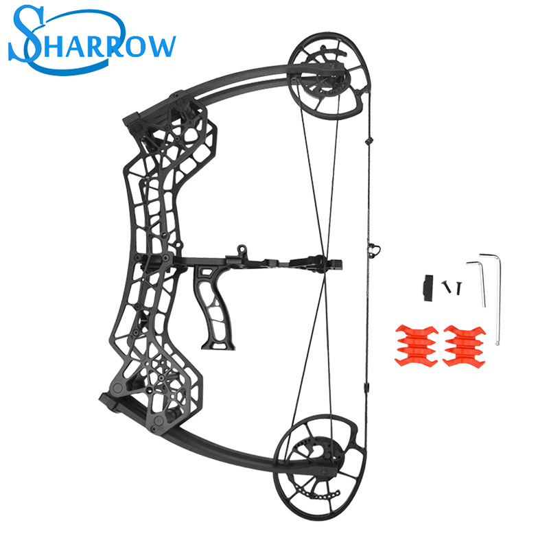 JUNXING M109F Archery Compound Bow 30-60LBS Catapult Dual-use Steel Ball Arrows Hunting Fishing Shooting Accessories