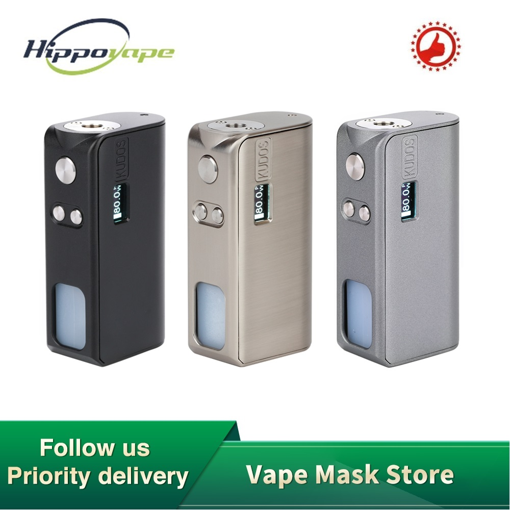 Original Hippovape Kudos 80W Squonker MOD Power By One 18650 Battery & 7.5ml Bottle Slide-to-refill Box MOD VS Drag 2/ Gen Mod