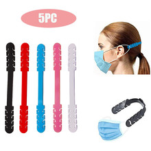 5 adet maske uzatıcılar olmayan sıkma kulak koruyucusu kulak kablosu uzatma ayarlanabilir kaymaz kulak kayış kopçası kulak askısı aksesuarları