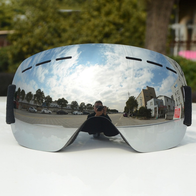 Frameless Ski Snowboard Goggles Windproof UV Protection With Elastic Head Band Motorcycle Glasses Racing Eyewear ZX00