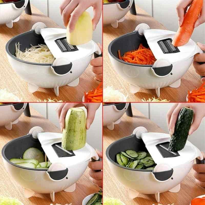 Manual Vegetable Cutter Multifungsi Dapur Slicer Sihir Memutar Buah Parutan Slicer untuk Alat Dapur