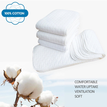Reusable Baby Inserts Diapers Eco-Friendly Babies Care 10pcs 3-Layer 1piece 100%Cotton