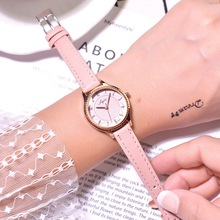 Fashion Casual Women Watches Pink Female Leather Clock 2019