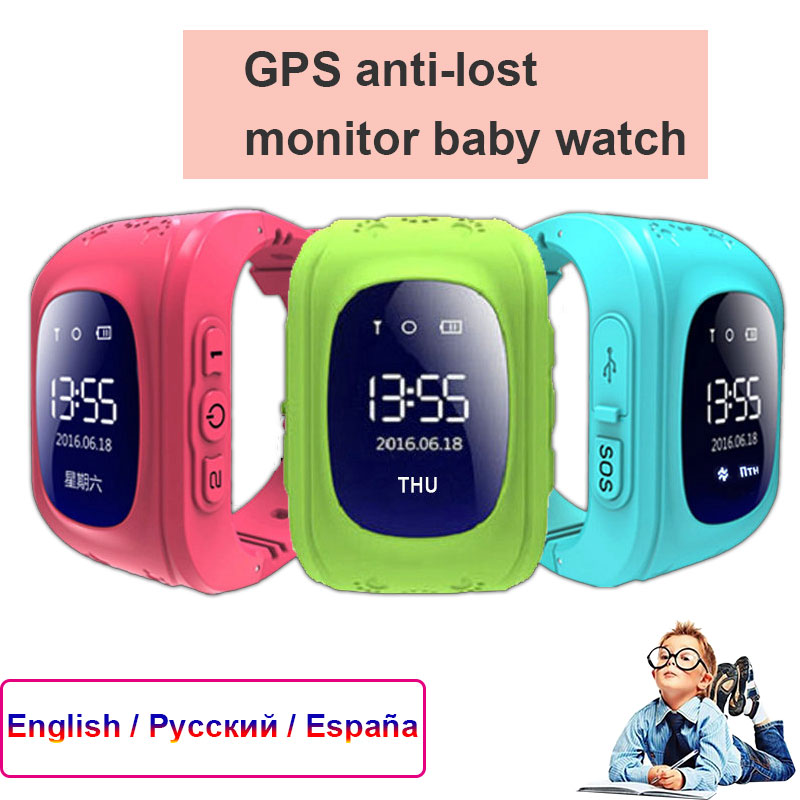 <font><b>GPS</b></font> Anti-verloren Smart Kinder Uhr Monitor kinder Aktionen SOS Anruf Location Tracker Wasserdichte Baby Uhr IOS & android image