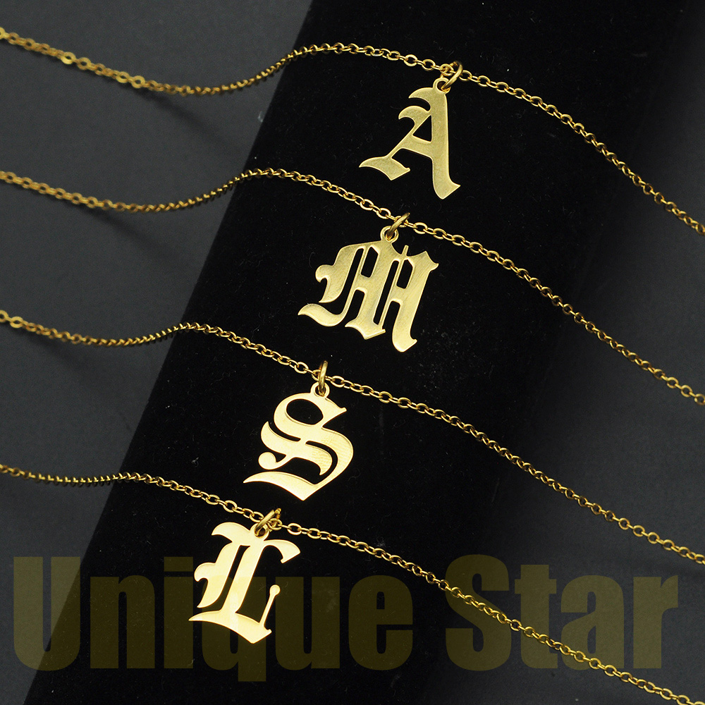 Pendant Necklaces Alphabet Jewelry Stainless-Steel Initial Women Letter Vni A-Z And Wholesale