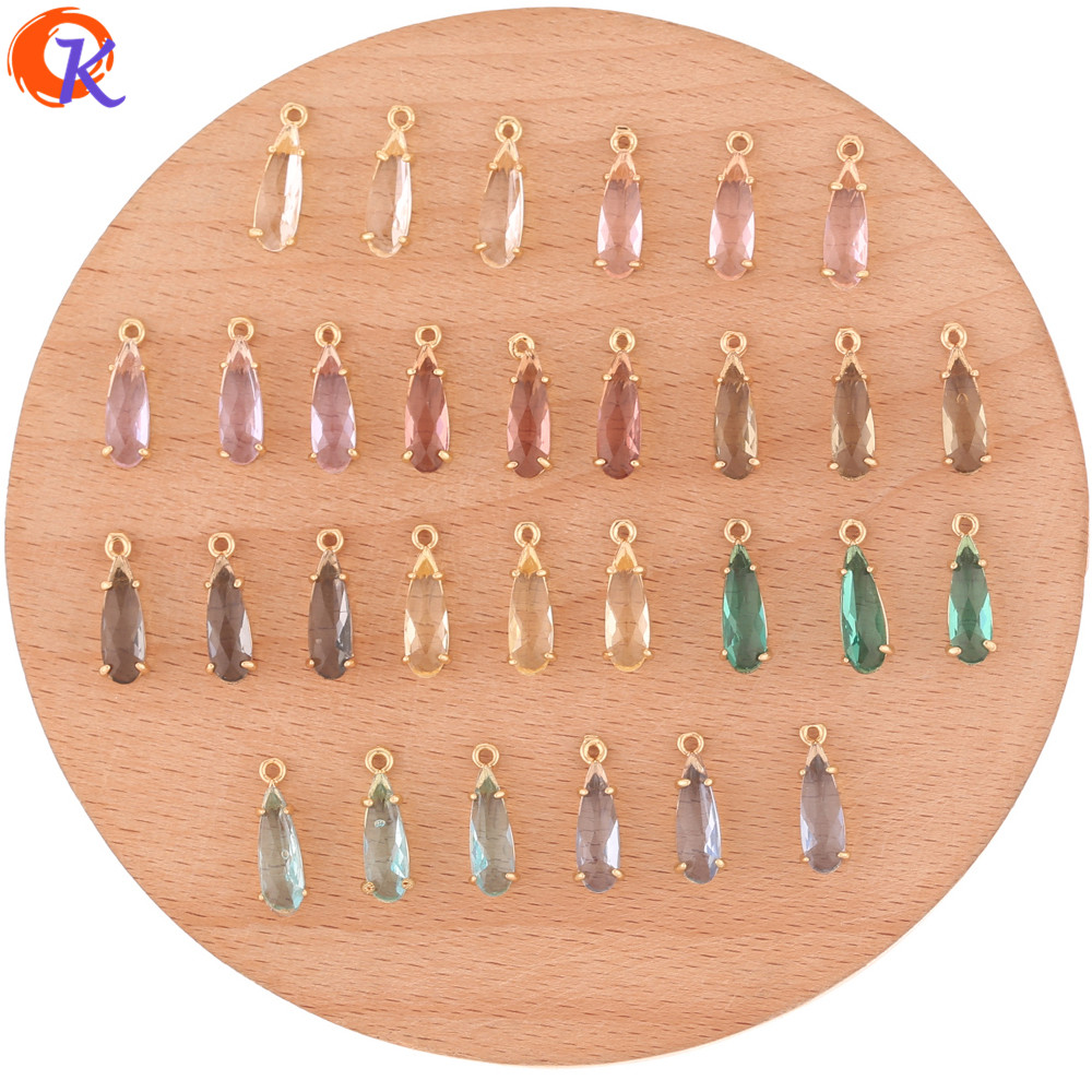 Cordial Design 50Pcs 5*14MM Jewelry Accessories/Crystal Pendant/Hand Made/Drop Shape/DIY Jewelry Making/Charms/Earring Findings