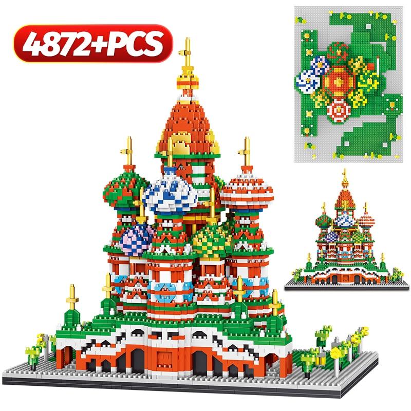 Mini diamante blocos de construção arquitetura catedral igreja cambridge university oxford modelo micro tijolos brinquedos para crianças presente