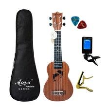 21 дюймов полный набор студенческий цвет ukelele заводская цена красное дерево сопрано Гавайские гитары укулеле