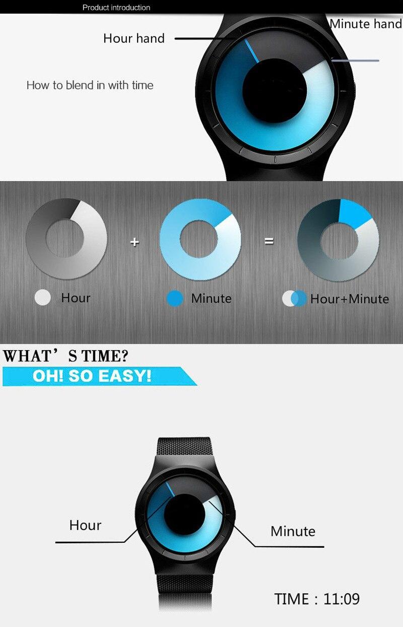 Creative Quartz Watches Men Top FASHION Brand Casual Stainless steel Mesh Band Unisex Watch Clock Male female Gentleman gift 5