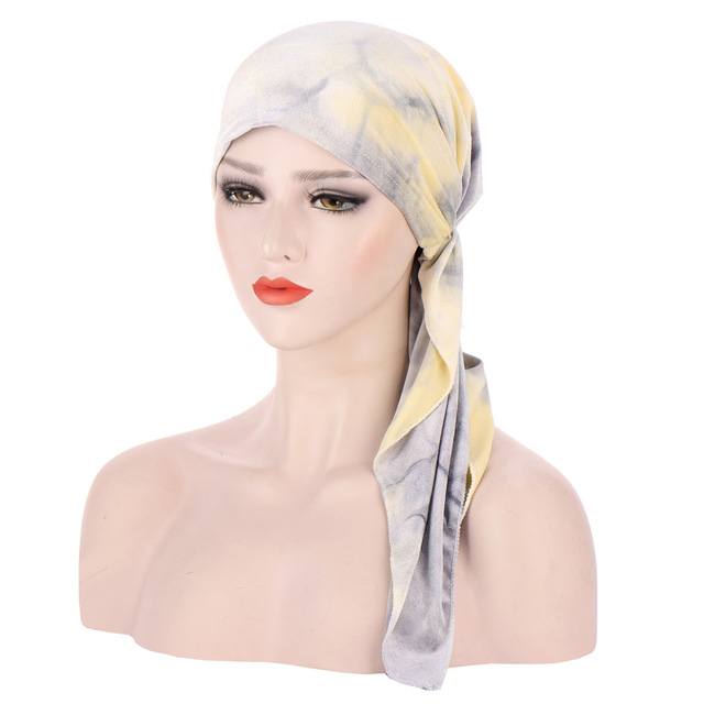 Мусульманский бархат тюрбан головной убор шляпа для женщин предварительно