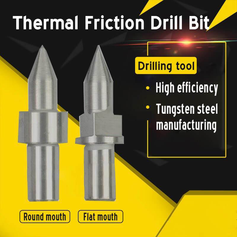 Thermal Friction Hot Melt Short Drill Bit M3 M4 M5 M6 M8 M10 M12 M14 Round/Flat Type TN99