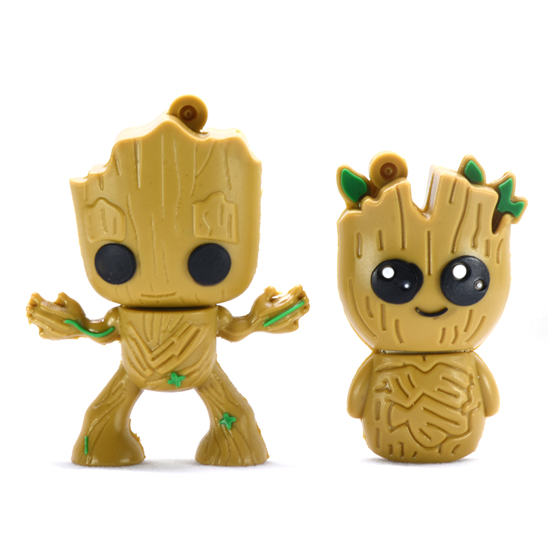 Usb Flash Drive 32GB 4GB 8GB 16GB 64GB Marvel Super Hero Tree Man Pen Drive 128GB 256GB Memory Groot  Usb Stick Pendrive