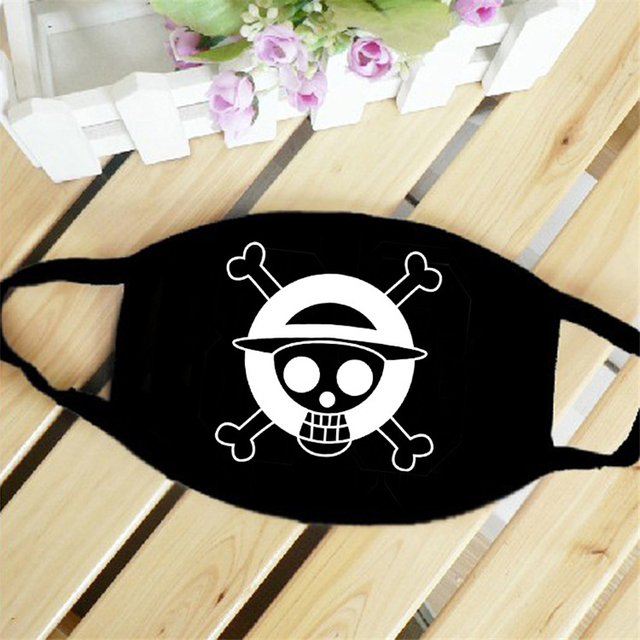 New Anime ONE PIECE Monkey D Luffy Skull The Straw Hat Pirates Symbol Trafalgar Law Cosplay Mask Sports Street Dust-Proof Masks 2