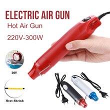 300W Hot Air Pistol Plastic Nozzles Soldering DIY Tools Heat Durable Black Electrical Accessories