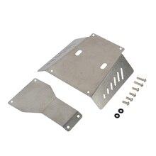 Rc carro de aço inoxidável chassi skid placa guarda para tamiya cc01 atualizar peças