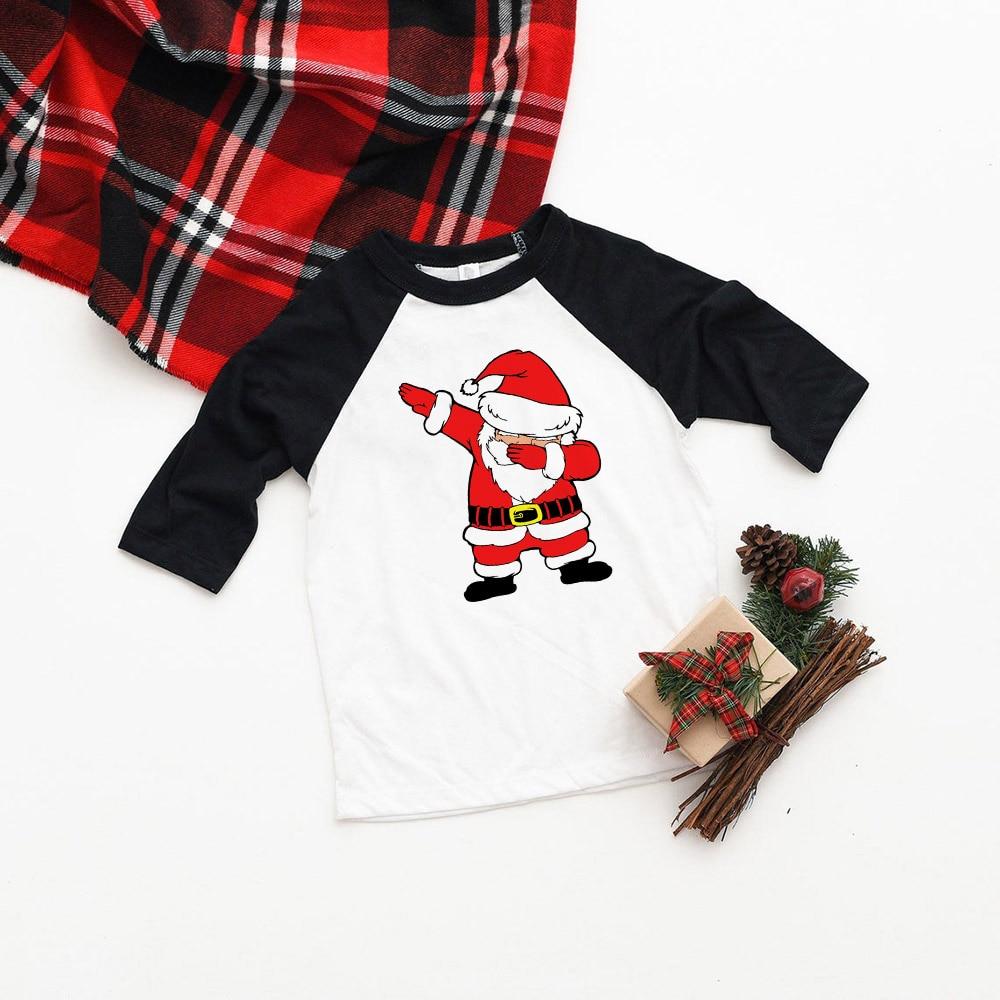 Kids Girls Boys Dabbing Christmas T-shirts Clothes Baby Santa Claus T Shirt Children Clothing Tops Tshirt T-shirt Baseball Tees 7