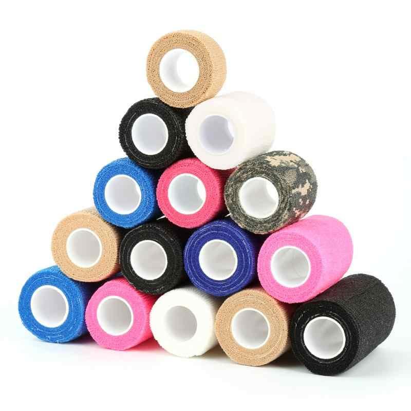 Selbst-adhesive Elastische Bandage 7,5 cm * 4,5 m Gaze Band Muscle Sprunggelenk Elastische Rettungs Film Farbe Sport band