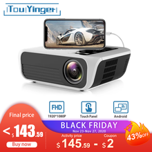 Touyinger L7 LED natywny projektor 1080P full HD mini marki USB beamer 4500 lumenów Android 7.1 wifi Bluetooth kino domowe HDMI