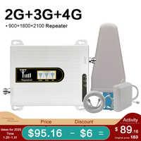 2019 wzmacniacz sygnału komórkowego 900 1800 2100 tri-band regenerator sygnału GSM 2g 3g 4g DCS LTE WCDMA 3g 4g wzmacniacz sygnału GSM 70dB