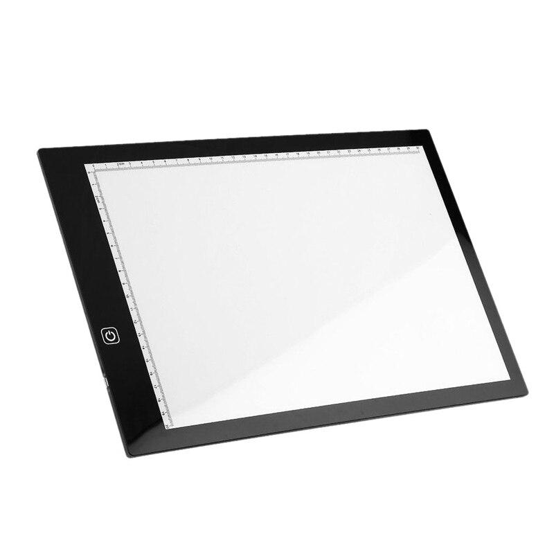 A4 Led pochoir planche boite à lumière artiste traçage dessin copie plaque Table cadeau