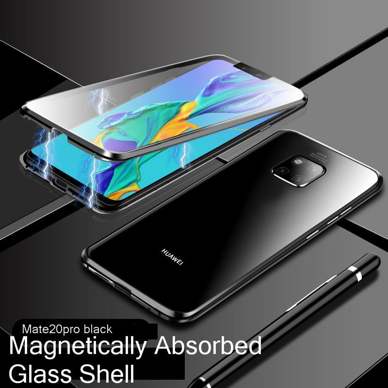 Magnet Cover for Huawei Mate 20 X Pro Case Glass Metal Magnetic P20 pro Lite 20x Clear Coque