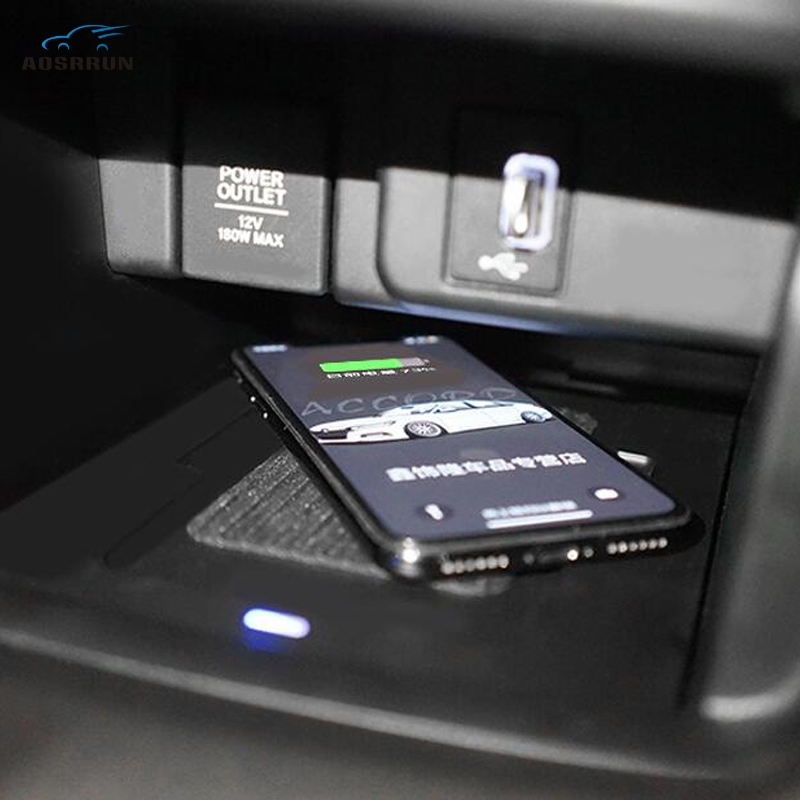 For <font><b>Honda</b></font> <font><b>accord</b></font> <font><b>2018</b></font> 2019 2020 10th Generation Mobile phone wireless charger wireless charging board QI cover Car <font><b>accessories</b></font> image