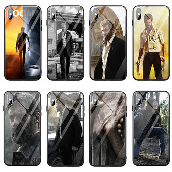 Fundas de teléfono de vidrio templado para iphone 6 5 5S SE 2020 6S plus 7 7plus 8 8plus bolsas de concha de moda LOGAN Wolverine