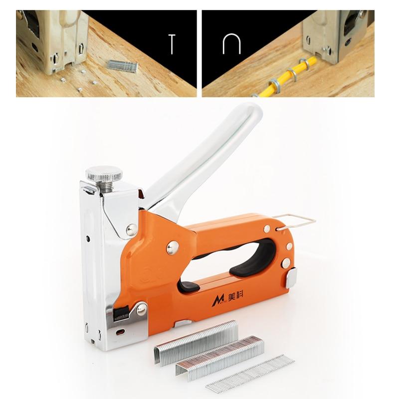 Orange Metal Tool Parts Wooden Door Nailers Rivet Tool Nail Staple Gun Durable Home Improvement Wood Dowel Door Nailer