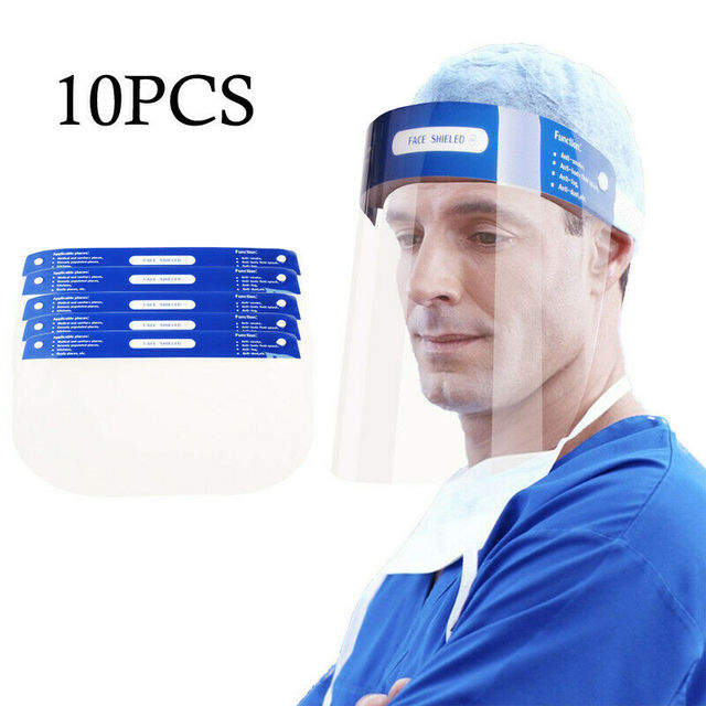 Professional Clear Full-Face Shield Anti Saliva Splash Protection Transparent Isolation Protective Safety Mask Shield 5