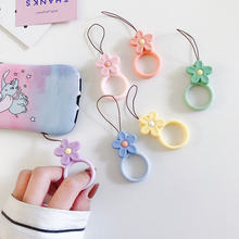 Short mobile phone rope flower lanyard universal girl strap cute ring accessories remote