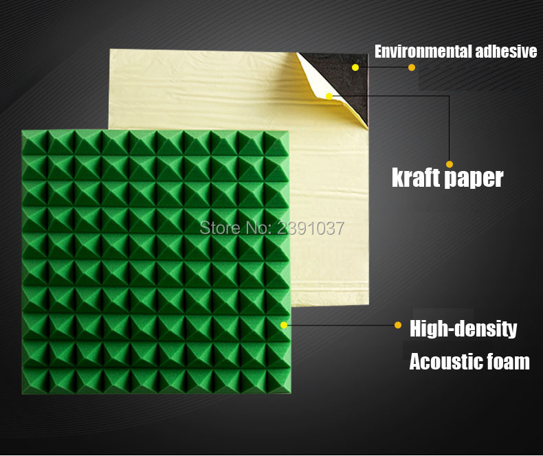 Self adhesive acoustic foam 60pcs big size 50x50cm studio foam cover 15 square meters acoustic foam white acoustic treatment