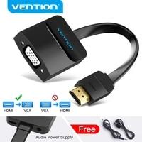 Vention-Adaptador de HDMI a VGA para Xbox PS3 PS4, soporte de caja para TV portátil, 1080P, convertidor de Audio analógico Digital, HDMI a VGA