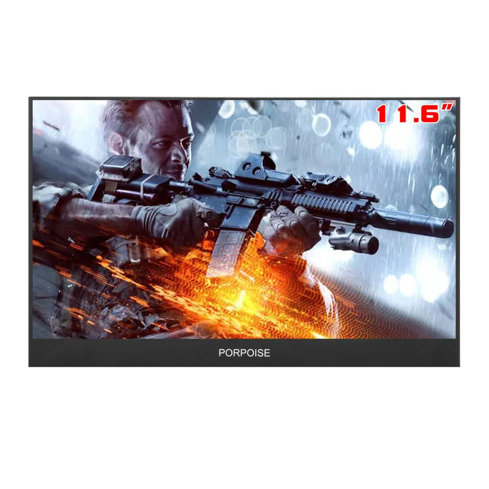 11.6 Inch Super-Ultra Portable Monitor 1920 * 1080P IPS Screen USB Display With Folding Holder For HDMI PS3 PS4 XBOX For PC