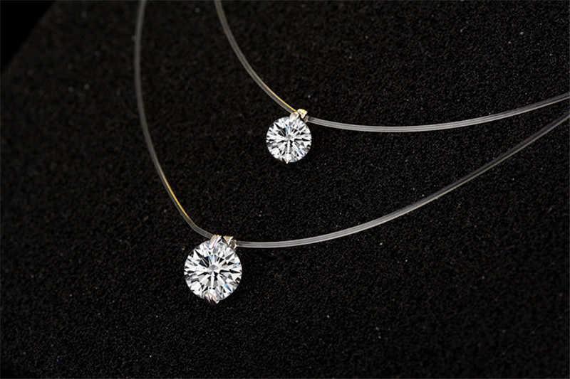 Solitaire Moissanite Liontin Berlian Nyata 925 Sterling Silver Pesona Pesta Pernikahan Liontin Kalung untuk Wanita Perhiasan Hadiah