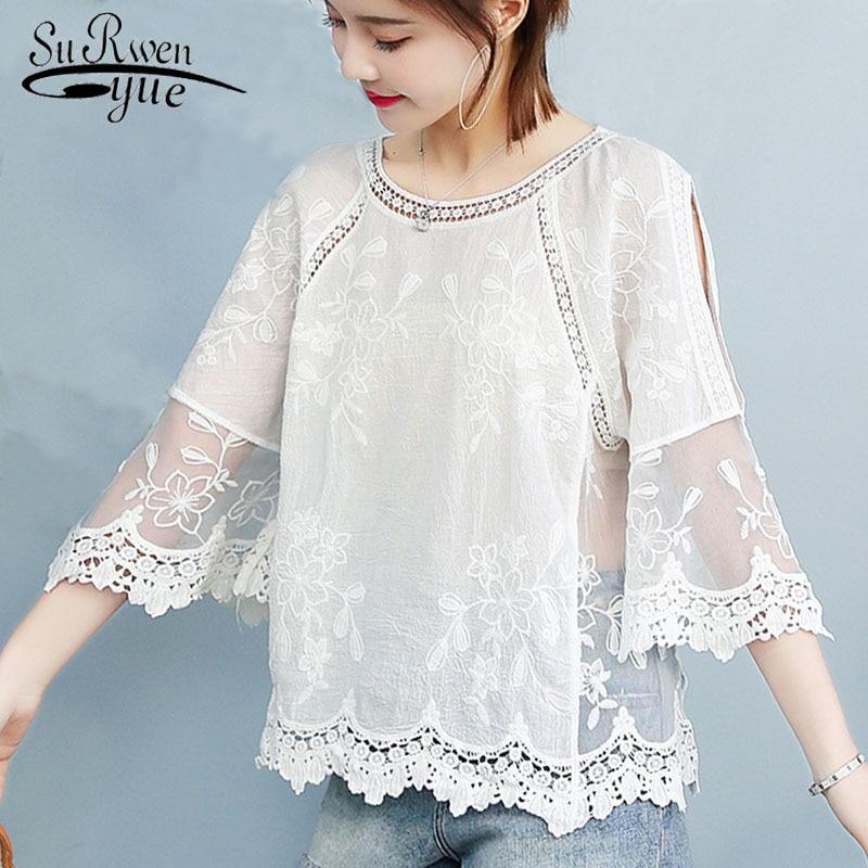 Hcee6eea9438f4ab3ac07384d1e2fbbb4R Ladies tops Fashion Women's Clothing Wild Perspective Small Shawl Chiffon Lace Lacing Boleros shirts tops 802E 30
