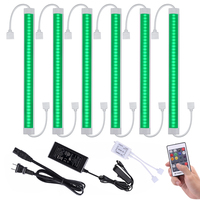 LED Dimmable RGBW RGBWW Under Cabinet Lighting 6 pcs Plug in Color Changing Bar Counter Lights for Kitchen Cabinet Liquor Remote
